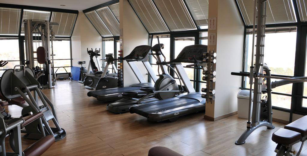 Póngase en forma en el gimnasio