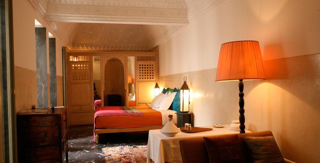 Relájese y disfrute en las Suite del Riad Due