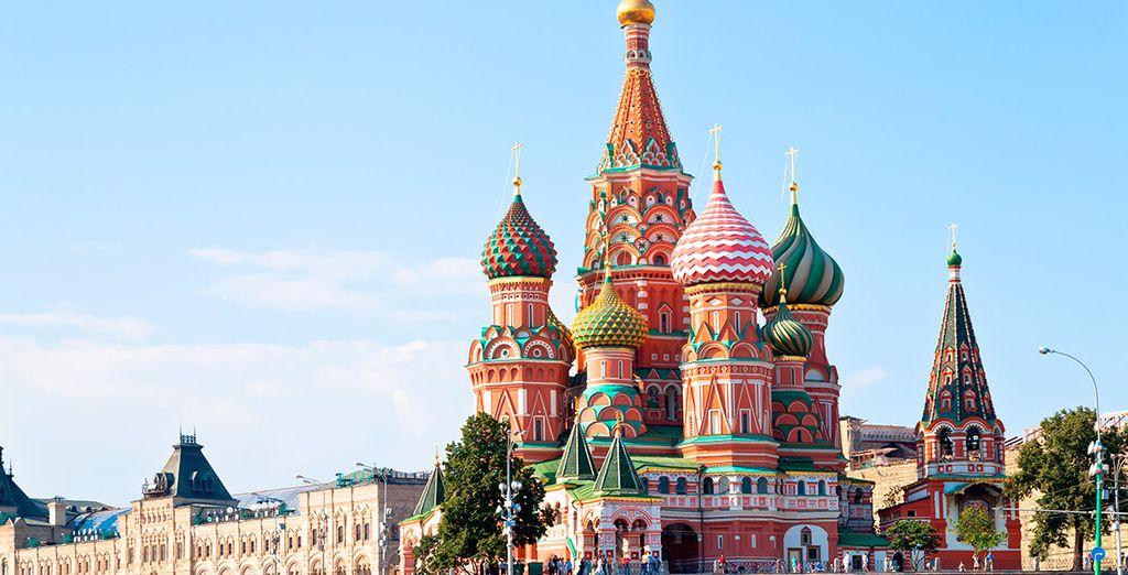 La catedral de San Basilio, icono moscovita