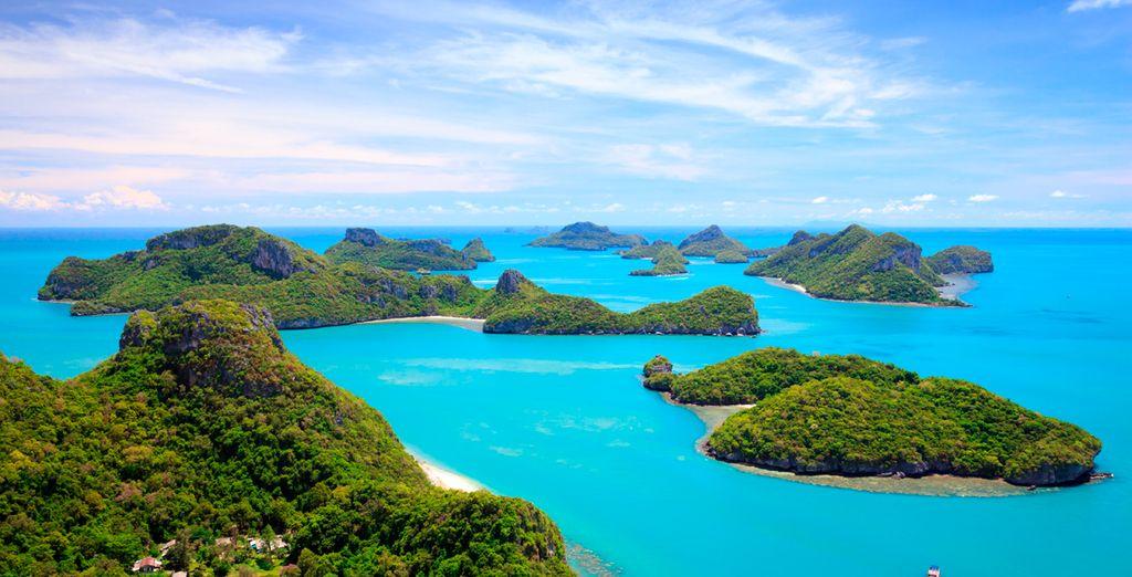 No te pierdas visitar el Parque Nacional Marino de Angthong