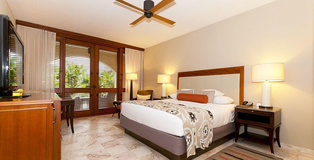 Descansarás en una habitación Resort King con vistas