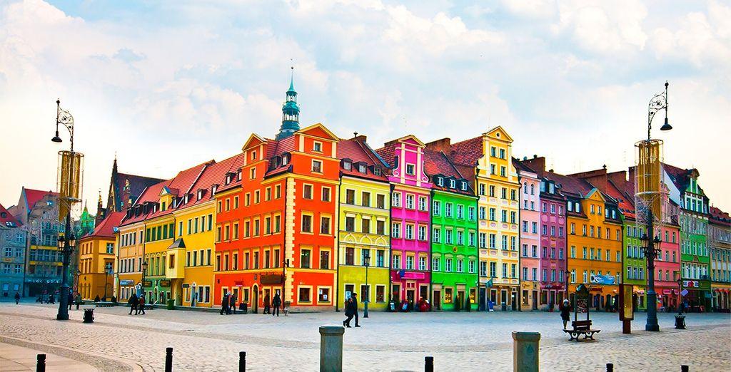 La colorida ciudad de Wroclaw le sorprenderá