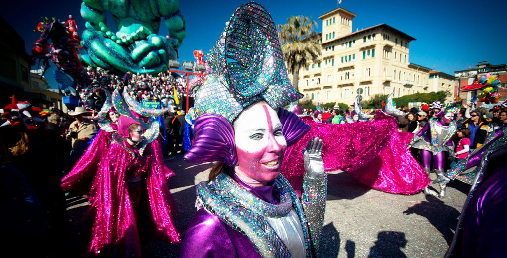 Venga a celebrar el carnaval florentino del 7 al 22 de Febrero, aproximadamente