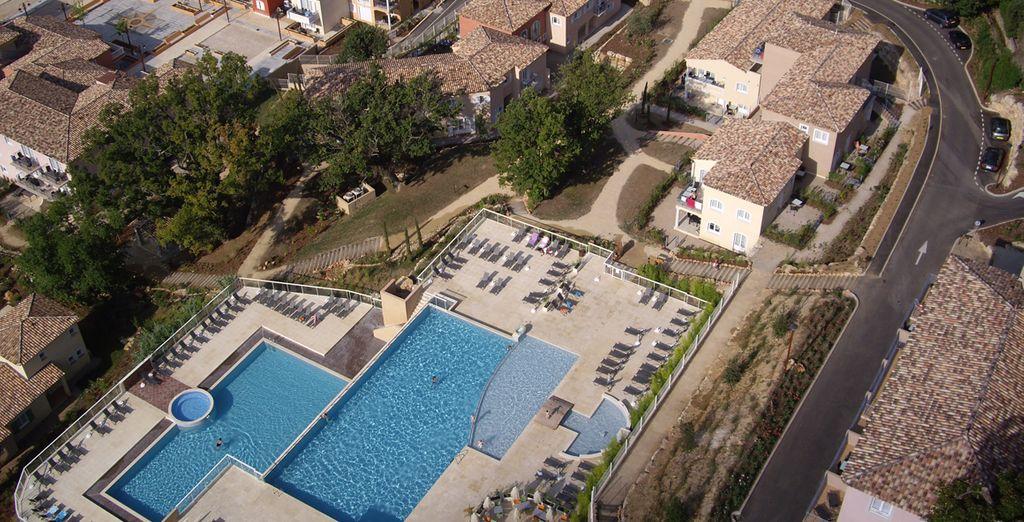 Vista aerea del Château de Camiole Resort & Spa