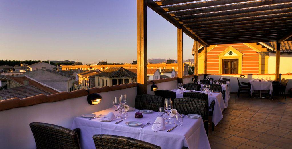 Magníficas vistas desde la terraza del hotel Casa del Trigo 4*