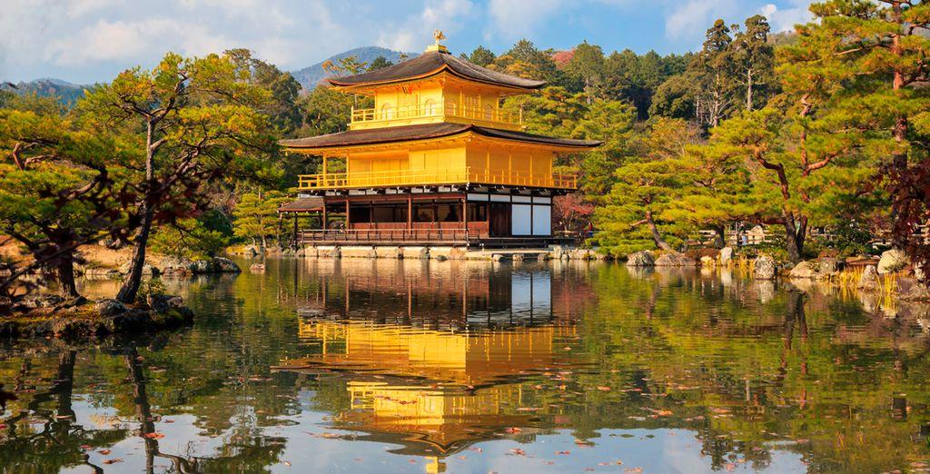 El templo Kinkakuji en Kyoto