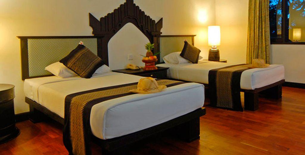 Su habitación Deluxe en el Hotel Amazing Bagan Resort 4*