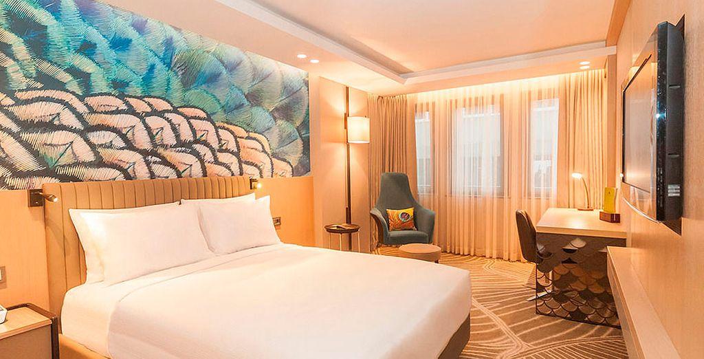 Descansarás cómodamente en tu habitación King Deluxe