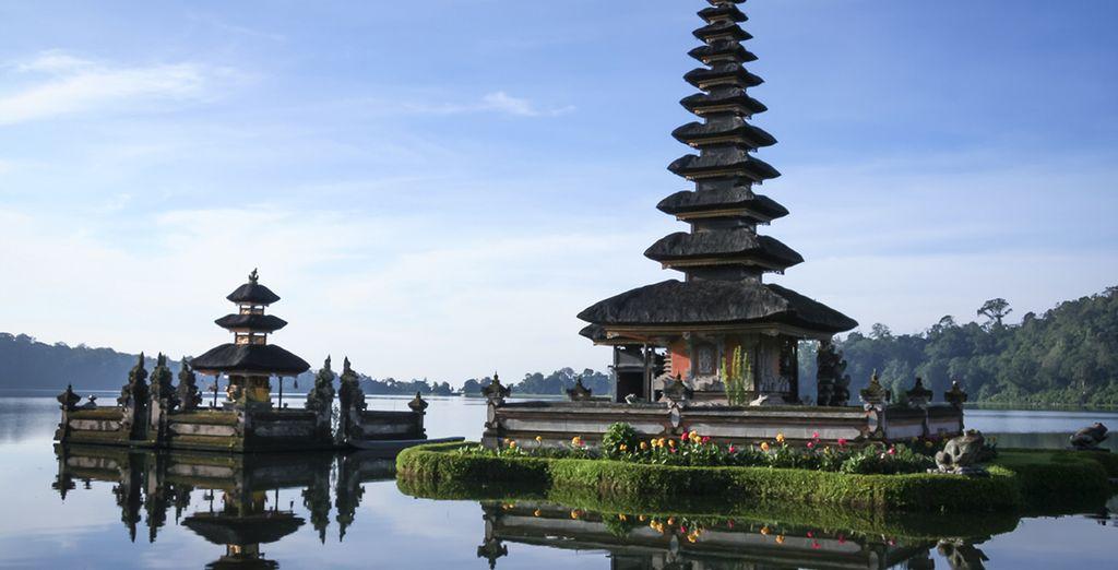 Visitará el lago Bedugul y el templo Pura Ulu Danu Beratan
