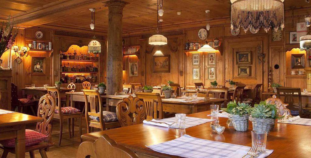 Deguste una rica gastronomía en el restaurante