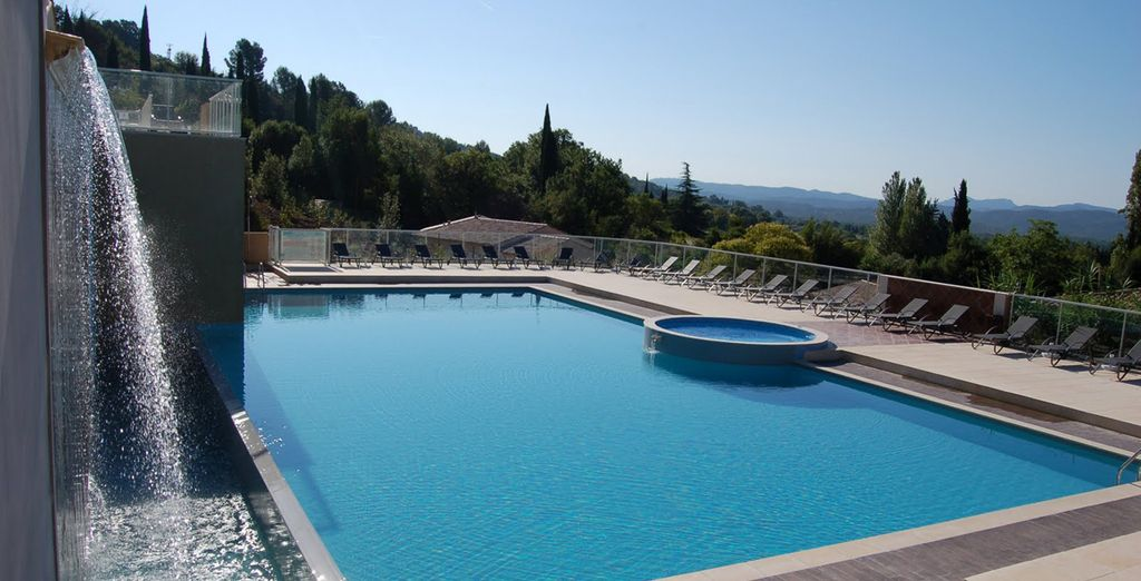 Una preciosa piscina...