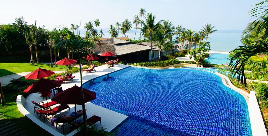 Múltiples piscinas para su disfrute durante el día