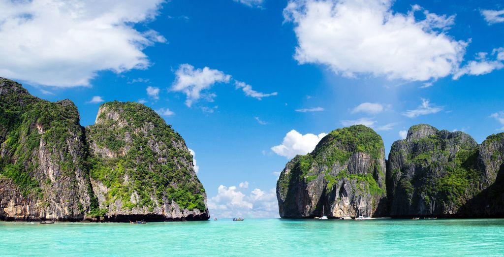Maya bahía de Phi Phi Leh