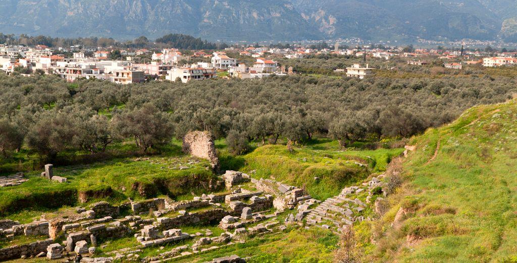Las ruinas de la antigua Esparta