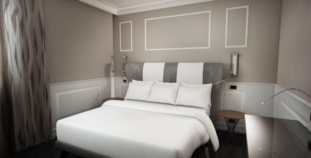 Las habitaciones del exclusivo Palazzo Navona se caracterizan por su amplitud y luminosidad