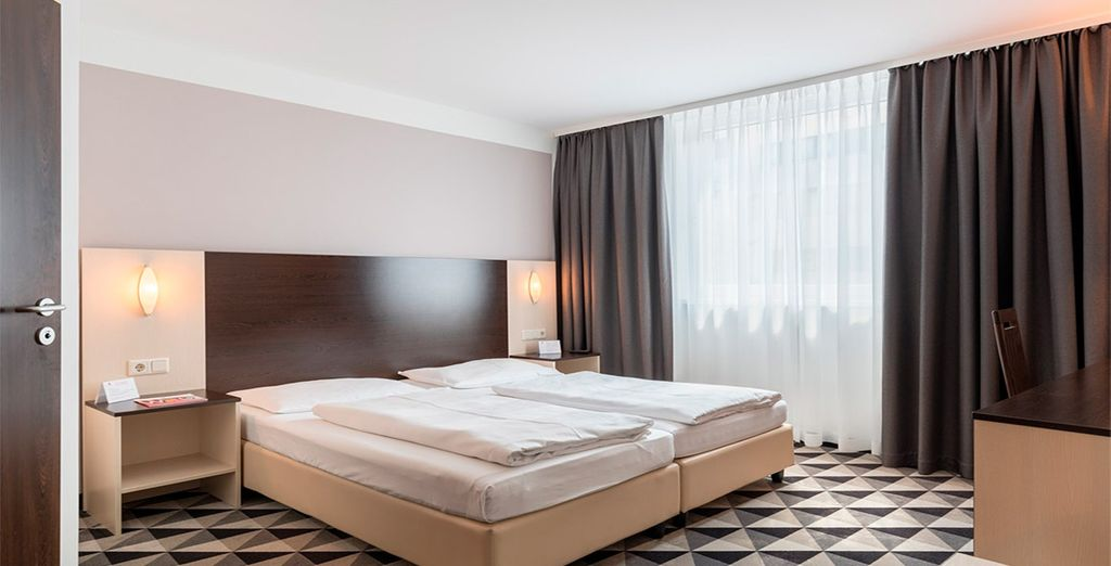 Tu moderna habitación en Azimut Vienna Delta 4*, Viena