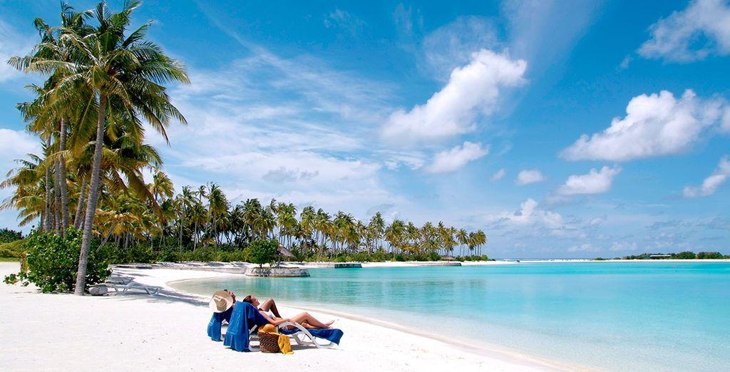Une plage de sable fin...