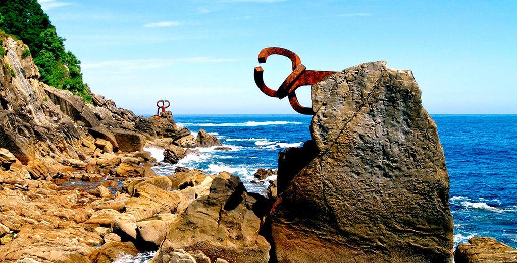 Des œuvres d'Eduardo Chillida balayées par le vent qui font la renommée de la région
