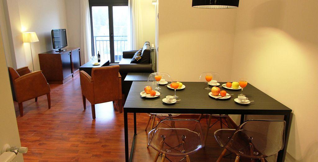 Vous séjournerez en appartement cosy, spacieux et lumineux