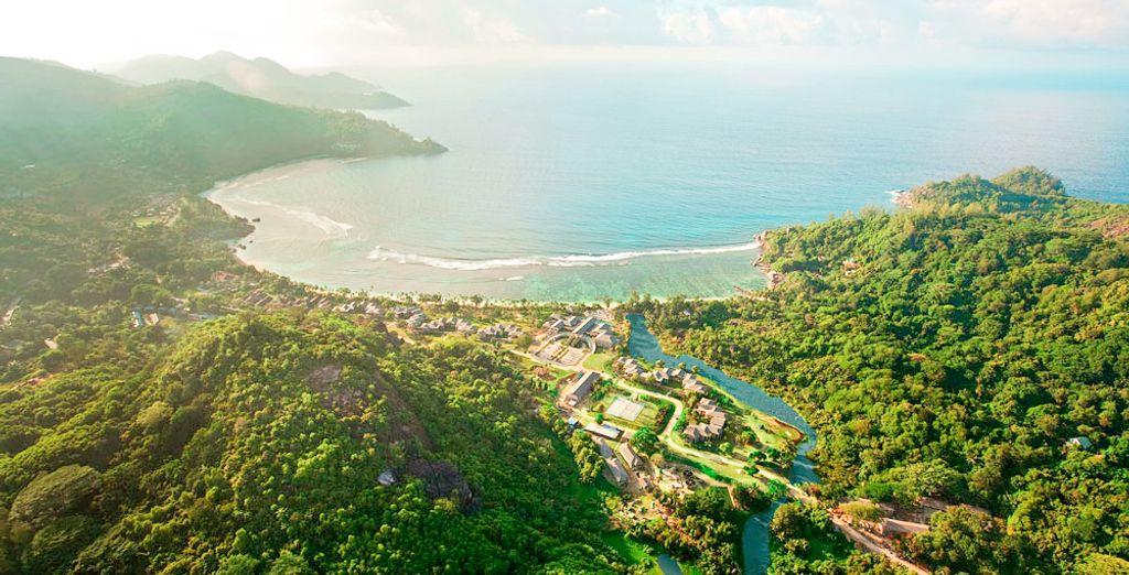 Photographie des Seychelles et de ses paysages verdoyants