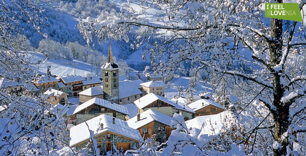 Nichée dans la vallée des Belleville en Savoie... - Hôtel Les Bruyères **** Les Menuires