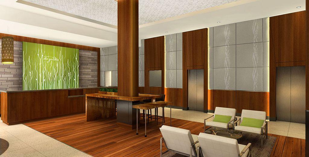 Dans un hôtel 4* moderne
