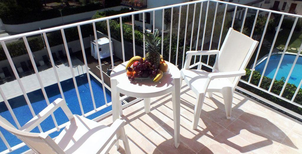 En option et avec supplément, craquez pour la vue piscine !