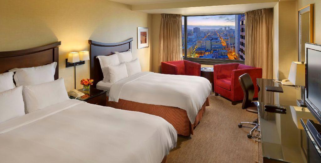 Où votre chambre vous attend en étage pour une meilleure vue !