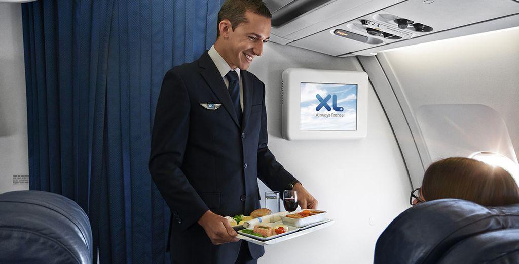 Confort, repos et service personnalisé vous attendent à bord. Prêt au décollage ?