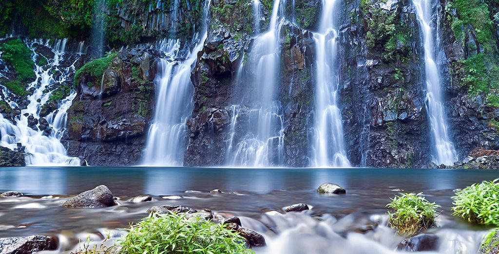 Imaginez-vous vous baigner sous de splendides cascades