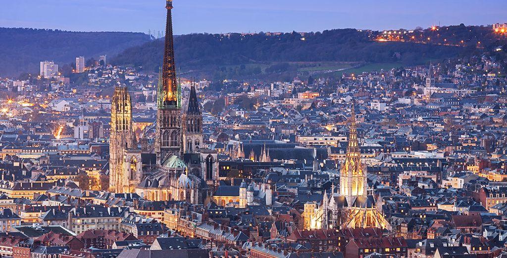 Photographie de la ville de Rouen vue de haut