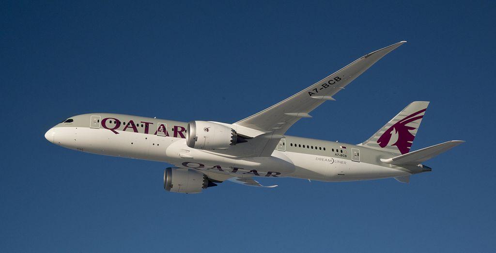 Au départ de Paris, vous vous envolerez avec la compagnie Qatar Airways