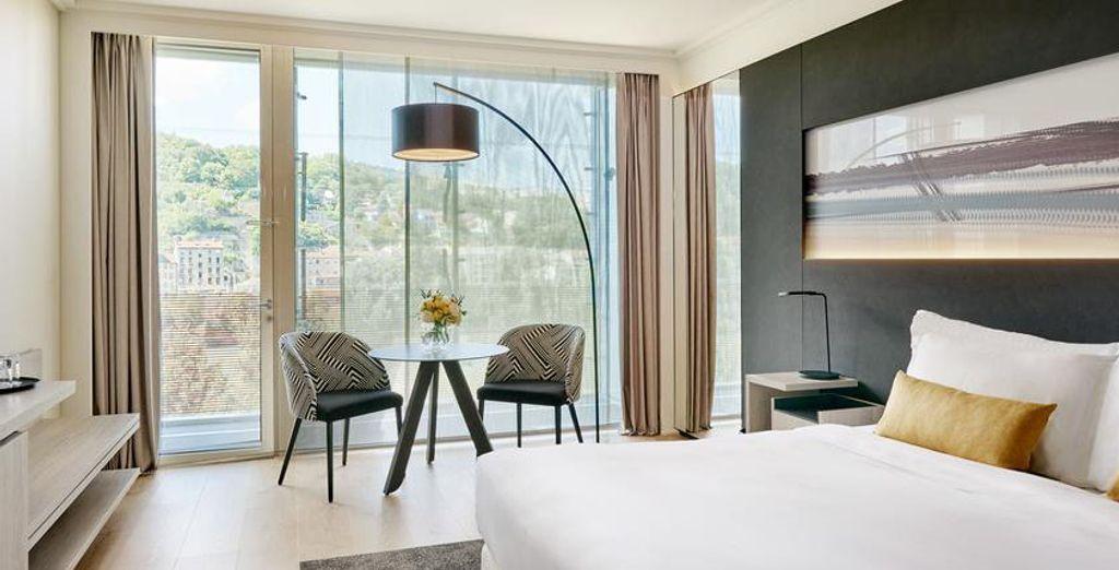 Chambre haut de gamme au cœur d'un hôtel quatre étoiles à Lyon