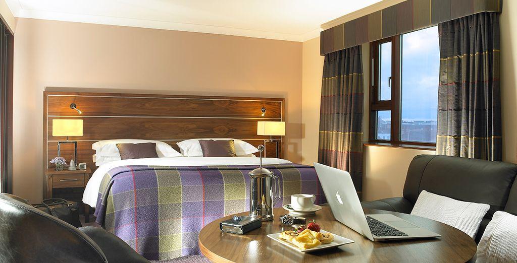 Hôtels de charme à Dublin, chambre double avec vue panoramique