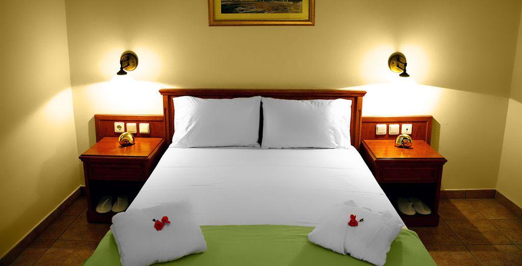 Vous serez confortablement installé dans votre chambre Famille 1 chambre