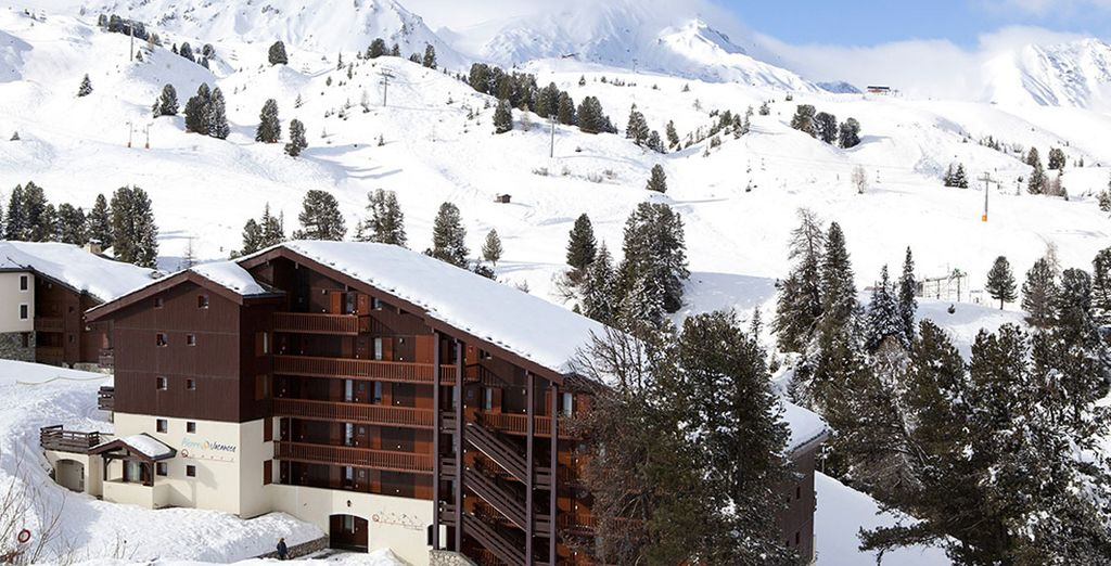 Photographie du domaine skiable de la Plagne en France