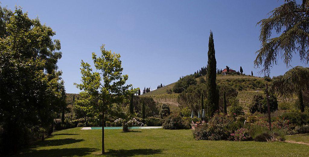 Et plongez en plein coeur de la campagne toscane