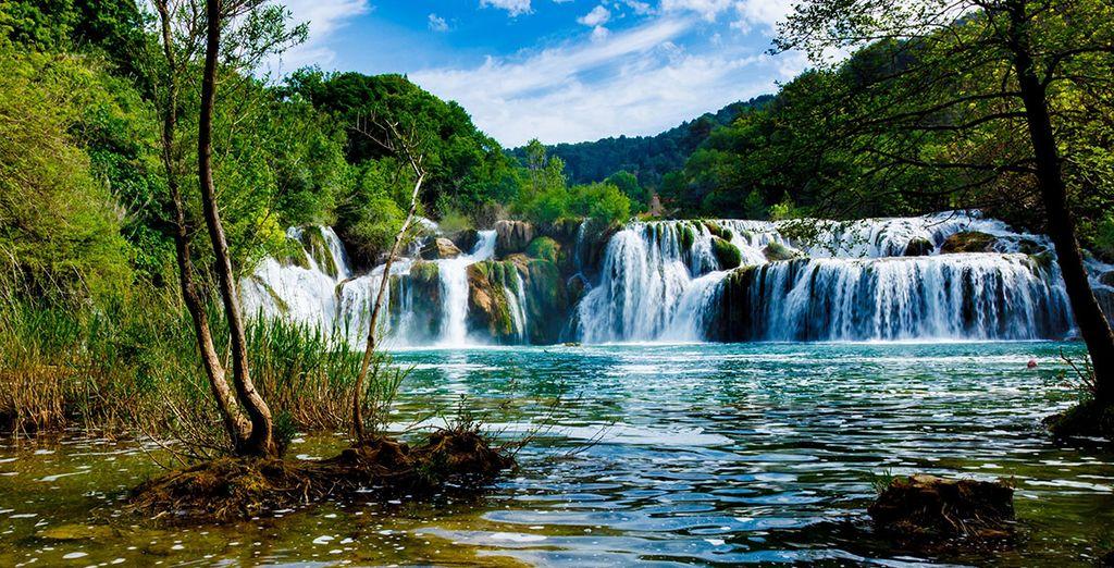 Paysage du Parc National de Krka en Croatie