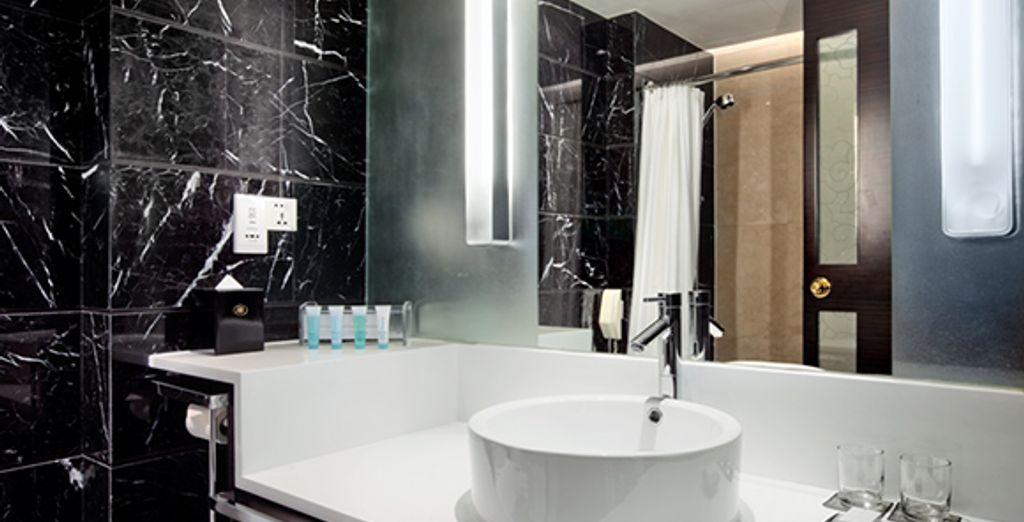 La salle de bain en marbre