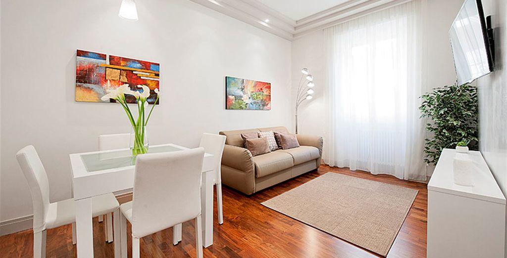 Appartement 3 : Le salon / salle-à-manger