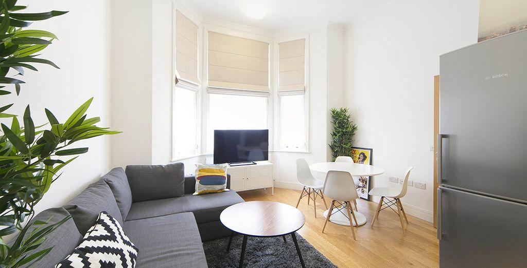 Appartement 2 : Le salon / salle-à-manger