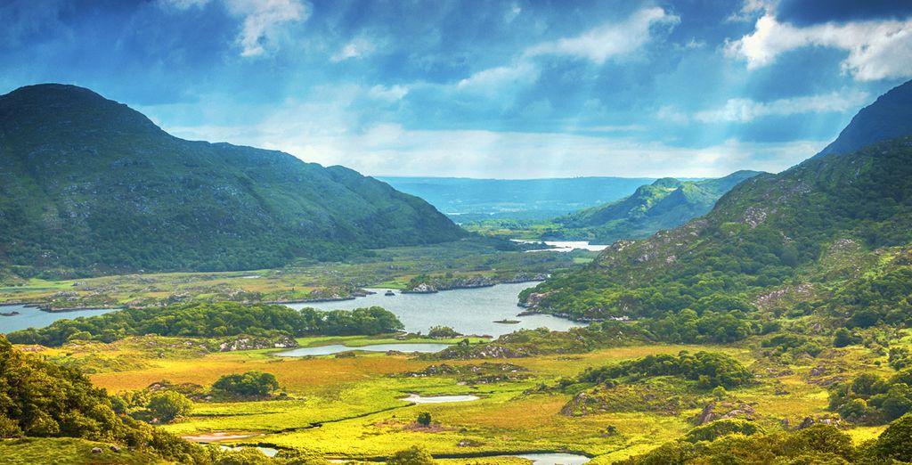 Paysages naturels de l'Irlande, lacs et montagnes