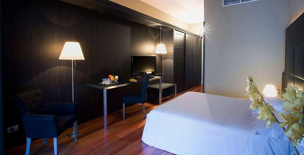 Vous séjournerez en chambre Double Classique disponible pour une ou deux personnes