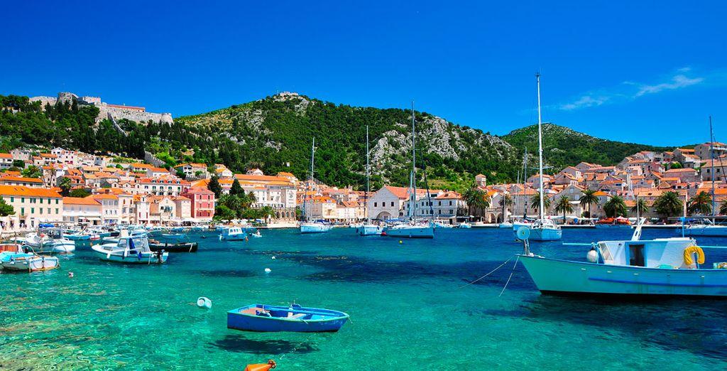 Paysage lors d'une croisière en Croatie