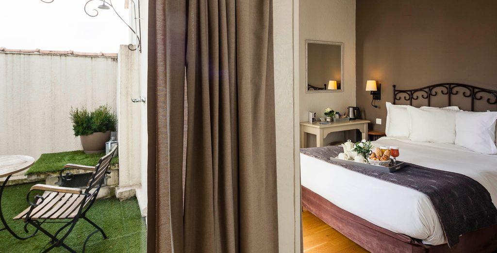Vous pourrez également opter pour une chambre Privilège avec terrasse