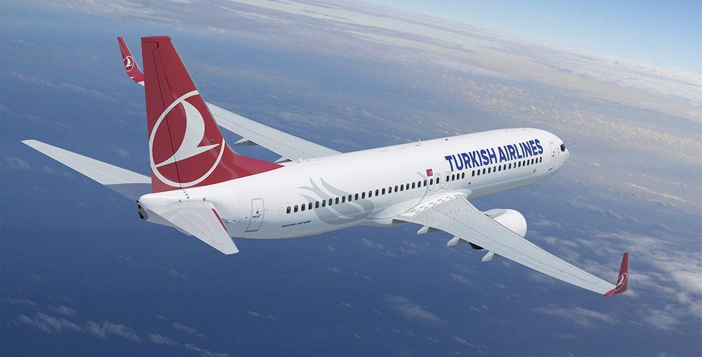 Vous vous envolerez avec la companie Turkish Airlines...