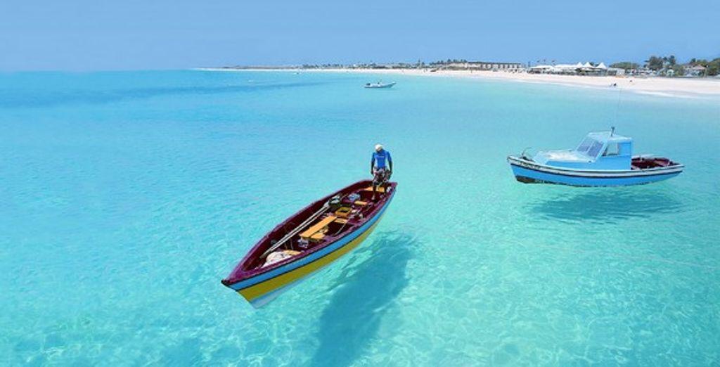 Les eaux turquoise du Cap Vert - Club Heliades Oasis Atlantico Belorizonte **** Sal