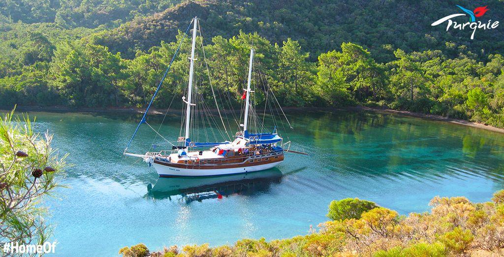 Voguez en mer à bord d'une goélette - Croisière Marmaris Fethiye Marmaris