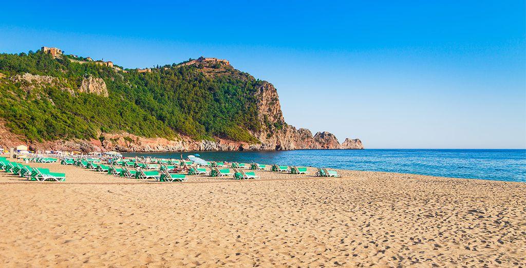 Vous serez tout près de la plage de Cléopatra