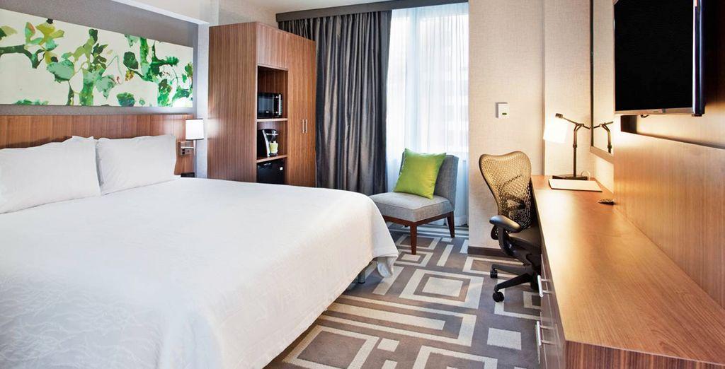 Où vous poserez vos valises en chambre Standard Guest